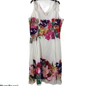 White floral Midi dress Size 22